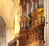 Interior Cathedral of Seville -- Cathedral of Saint Mary of the See, Andalusia, Spain Stock Photo