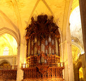 Interior Cathedral of Seville -- Cathedral of Saint Mary of the See, Andalusia, Spain Stock Image