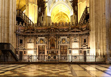Interior Cathedral of Seville -- Cathedral of Saint Mary of the See, Andalusia, Spain. Is the third largest church in the world and at it's time of Stock Image
