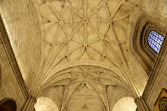 Interior Cathedral of Seville -- Cathedral of Saint Mary of the See, Andalusia, Spain Stock Photos