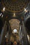 Interior of Cathedral of Siena. Stock Photo