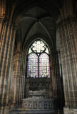 Interior of the cathedral with skylight Royalty Free Stock Photos