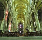 Interior of Cathedral Soissons Stock Images