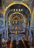 Interior of Cathedral at St Mark s Basilica Royalty Free Stock Photo