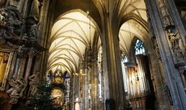 The interior of the Cathedral of St. Stephen in Vienna. royalty free stock images