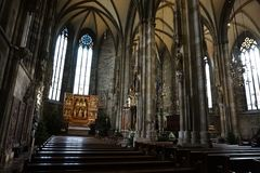 The interior of the Cathedral of St. Stephen in Vienna. royalty free stock photo