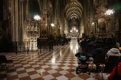 Interior of the Cathedral of St. Stephen in Vienna stock photo