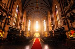 The interior of Cathedral of St. Wenceslas Stock Images