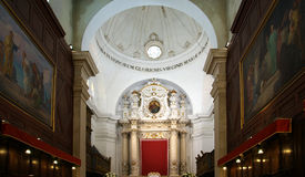 The interior of the Cathedral  OF SYRACUSE, Sicily Stock Photography