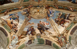 The interior of the Cathedral  OF SYRACUSE (Siracusa, Sarausa) Stock Images