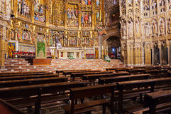 Interior of Cathedral in Toledo Spain Stock Image