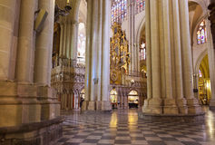 Interior of Cathedral in Toledo Spain Royalty Free Stock Photo