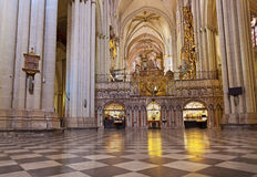 Interior of Cathedral in Toledo Spain Royalty Free Stock Image