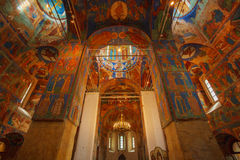 Interior, Cathedral of Transfiguration of the Saviour, Monastery Stock Images