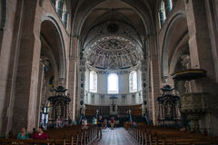 Interior of cathedral in Trier Royalty Free Stock Photos