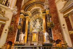 Interior of Cathedral in Valencia Spain Stock Image