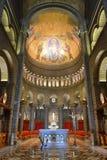 The interior of Cathedrale de Monaco stock image