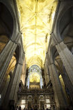 Interior cathedrale of seville Stock Photos