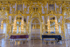 Interior of Catherine Palace, a Rococo palace in Tsarskoye Selo,. Saint Petersburg, Russia - July 12, 2017:  Interior of Catherine Palace, a Rococo palace in Stock Photos