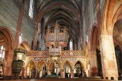 Interior catholic cathedral Stock Photos