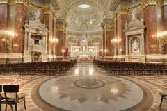 Interior of a catholic church Royalty Free Stock Images