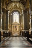 Interior of a catholic church Stock Photo