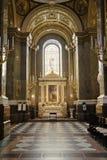 Interior of a catholic church Stock Photo