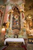 Interior of a catholic church Royalty Free Stock Photo
