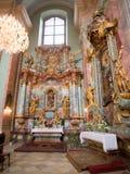 Interior of a catholic church Stock Photography