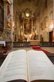 Interior of a catholic church Royalty Free Stock Photography