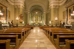 Interior of a catholic church Stock Photography