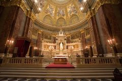 Interior of a catholic church Royalty Free Stock Image