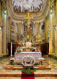 Interior of catholic church. Royalty Free Stock Image