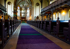 Interior of catholic church Royalty Free Stock Photos