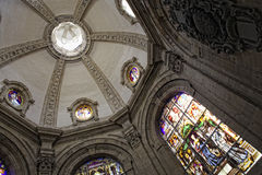 Interior of catholic church Royalty Free Stock Photos