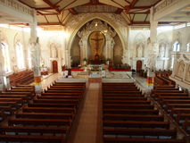 Interior of Catholic Church in Bali Royalty Free Stock Photography