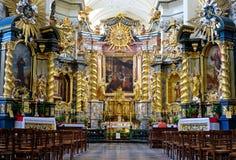 Interior of catholic church Royalty Free Stock Images