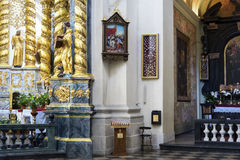 Interior of catholic church Royalty Free Stock Photo