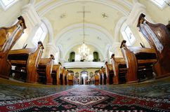 Interior catholic church in Slovakia Royalty Free Stock Photo