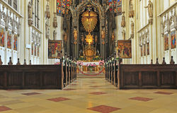 Interior of an catholic church Royalty Free Stock Photography