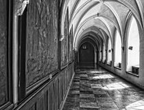 Interior catholic monastery. Details and architecture Royalty Free Stock Images