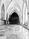 Interior catholic monastery. Details and architecture in interior church Stock Photography
