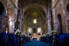 Interior of catolic churh in Rome, Italy Stock Photo