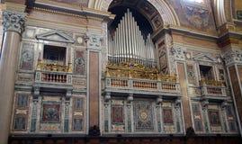 Interior of catolic churh in Rome, Italy Royalty Free Stock Photos