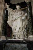 Interior of catolic churh in Rome, Italy Stock Photos