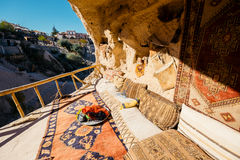 Interior of the cave dwelling in Cappadocia. Turkey Royalty Free Stock Photography