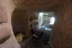 Interior of the cave dwelling in Cappadocia. Turkey Stock Image