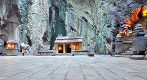 Interior of a cave in Vietnam Royalty Free Stock Photo