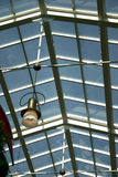 Interior Ceiling. Glass interior ceiling of a nuilding with light Royalty Free Stock Images