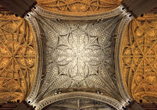 Interior ceiling of Cathedral of Seville, Andalusia Stock Photography